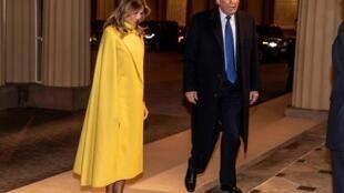 Donald Trump et sa femme Melania lors de leur arrivée à Buckingham Palace le 3 décembre 2019.