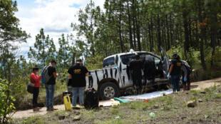 Le pick-up du l'humanitaire Benoît Maria tué au Guatemala lundi 10 aout 2020.