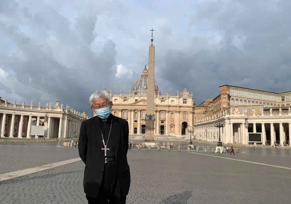 香港荣休枢机主教陈日君于梵蒂冈资料图片