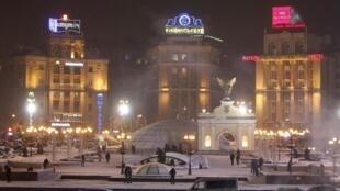 Trung tâm thủ đô Kiev, Ukraina, nhiệt độ -18C°, ngày 03/02/2012