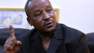 Hassoumi Massaoudou, actuel ministre des Finances du Niger, en février 2016, alors qu'il était à l'époque ministre de l'Intérieur du Niger.