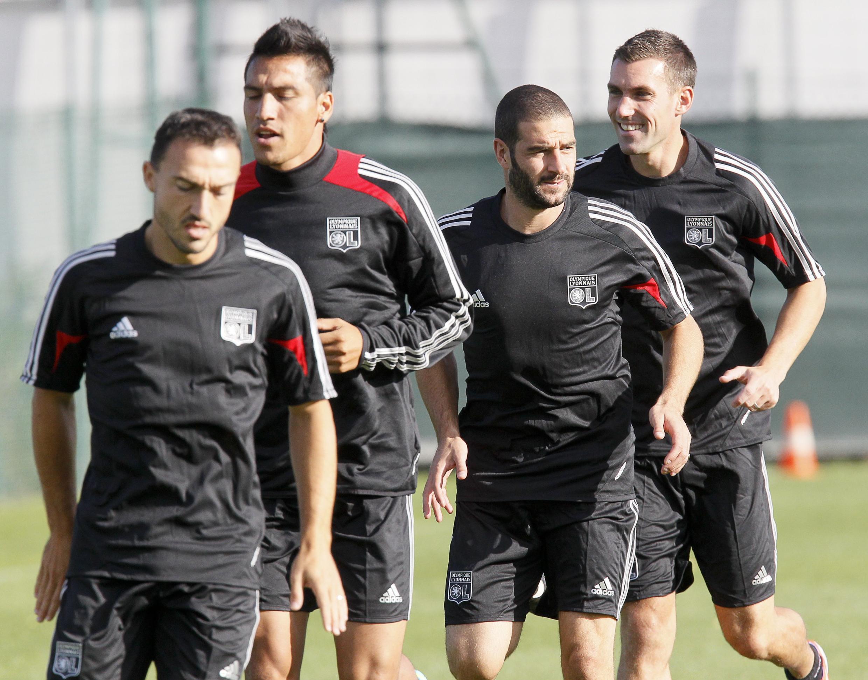 Treino do Olympique de Lyon que na próxima quinta-feira, volta ao Estádio Gerland para enfrentar o Sparta Praga pela abertura do Grupo I da Liga Europa.