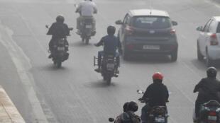 New Delhi lors d'un pic de pollution en novembre 2017.