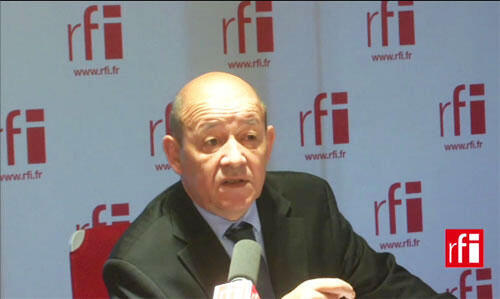 O ministro da Defesa francês, Jean-Yves Le Drian.