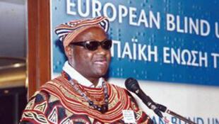 Paul Tézanou, président de l'Union francophone des aveugles.