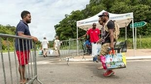 Barricades have been put up all over French Guiana, to keep vehicles from circulating in the department