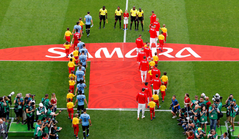 Матч сборных России и Уругвая в Самаре. 25 июня 2018 г.