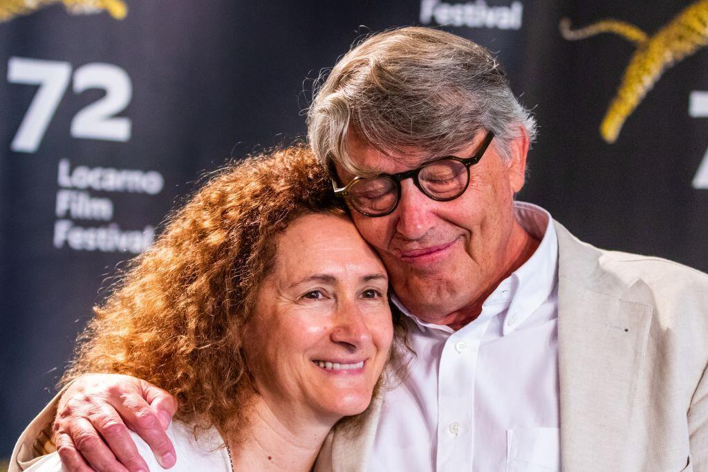 Miguel Lobo Antunes, actor principal no filme Technoboss do português João Nicolau, em competição no Festival de cinema de Locarno, aqui com a actriz Luísa Cruz.
