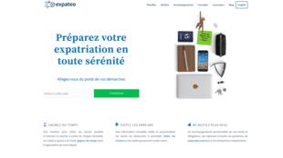 Page d'accueil de la plateforme Expateo