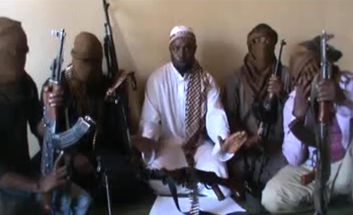 Combattants de la secte Boko Haram au Nigeria.