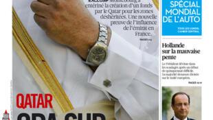 Capa do jornal francês Libération desta segunda-feira, (24)