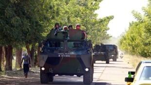 Quân đội Pháp tại thành phố Bamako, ngày 18/01/ 2013.