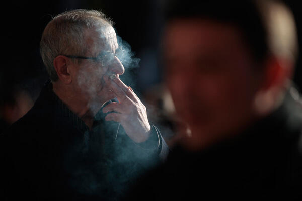 According to government statistics, 73,000 French people die every year from smoking related illnesses
