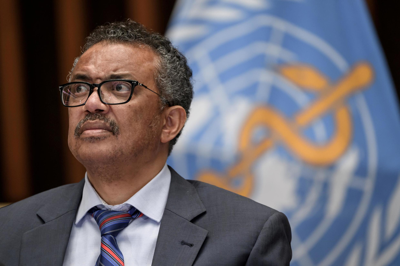 Le directeur général de l'Organisation mondiale de la santé (OMS), Tedros Adhanom Ghebreyesus, au siège de l'organisation à Genève, le 3 juillet 2020.