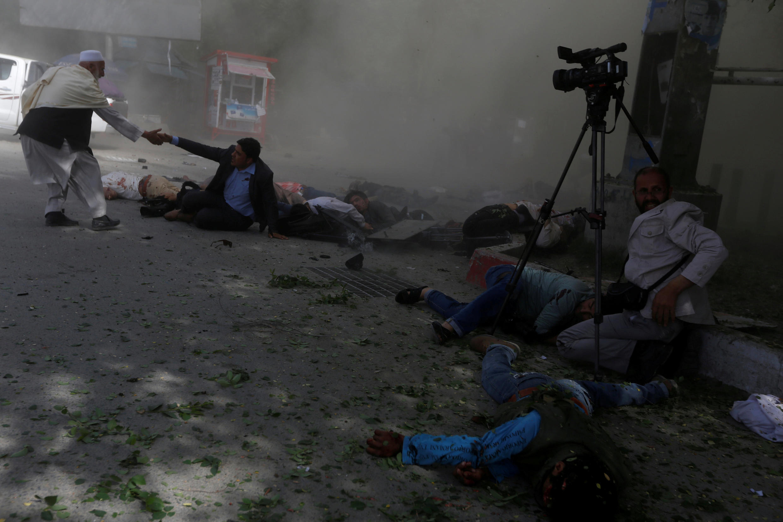 Double attentat-meurtrier à Kaboul, ce lundi 30 avril 2018.