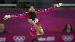 La gimnasta estadounidense Gabrielle Douglas, ayer 2 de agosto de 2012.