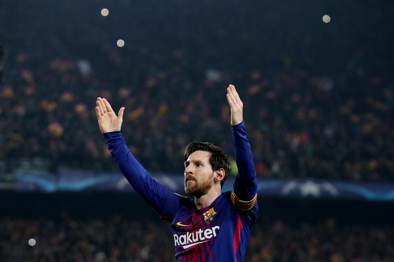 Dan wasan kungiyar Barcelona Lionel Messi.