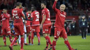 Le milieu de Dijon Florent Balmont lors du match de L1 contre Montpellier, le 13 janvier 2019 au stade Gaston-Gérard
