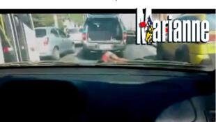 A revista francesa Marianne traz artigo com o vídeo da viatura da PM que arrasta mulher por rua na Zona Norte do Rio.