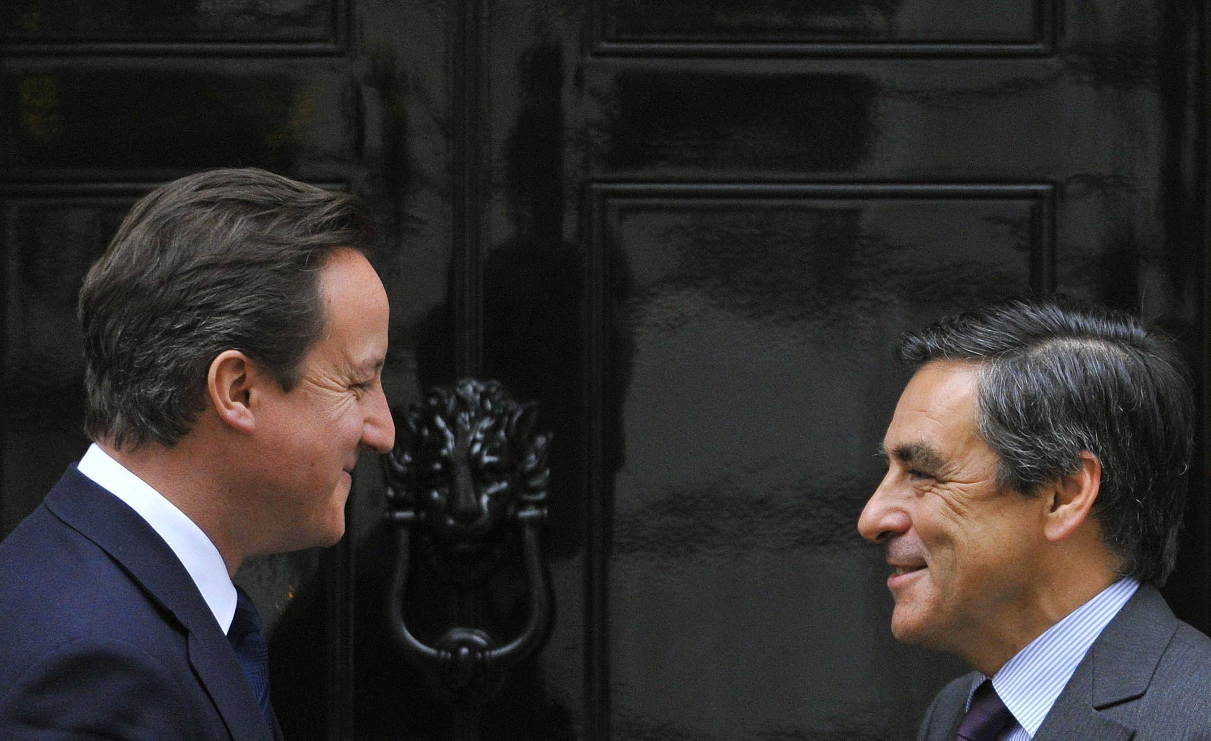 Fillon on his first official visit to Britain since becoming PM
