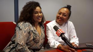 La chanteuse Aïna Quach et la cuisinière Aïna Ramadison.