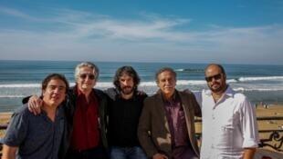 Oscar Ruíz Navia, Luis Ospina, Nicolas Azalbert, Víctor Gaviria y Ciro Guerra en Biarritz.