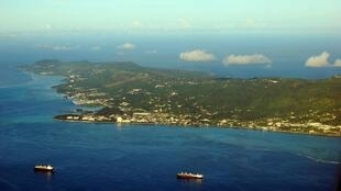 The island of Saipan in the Northern Marianas