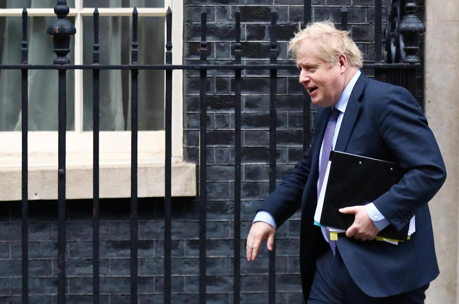 Primeiro-ministro britânico, Boris Johnson, no dia 12 de Fevereiro 2020.