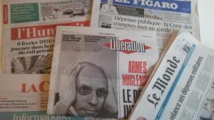 Primeiras páginas dos jornais franceses de 8 de fevereiro de 2018
