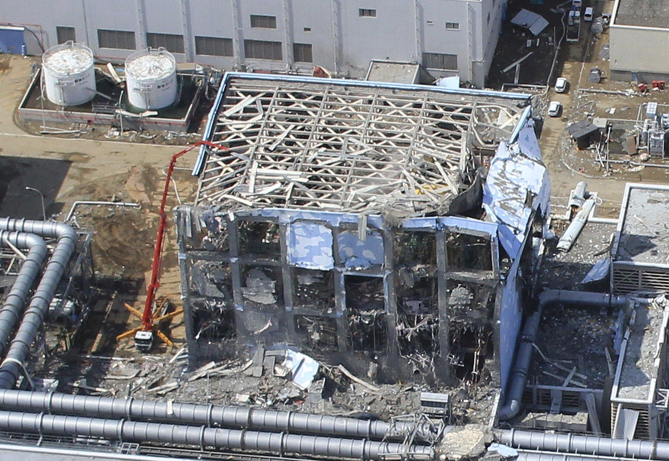 An aerial view of the Fukushima Daiichi Nuclear Power Station