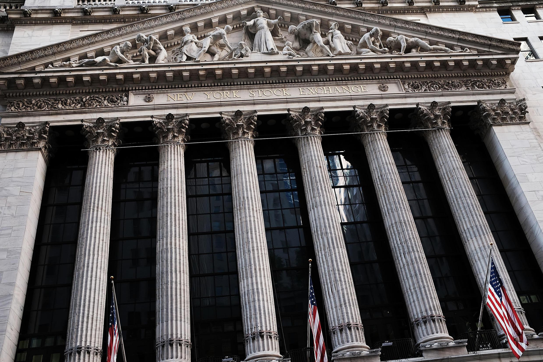 La bourse de New York, Wall Street.
