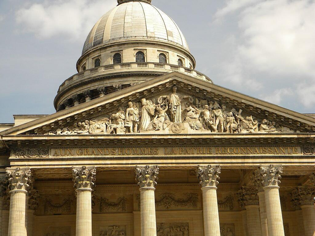 Pantheon with to its great men engraving by Wikimedia Commons