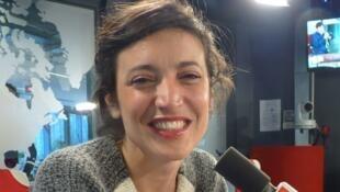 Claire Luna en los estudios de RFI