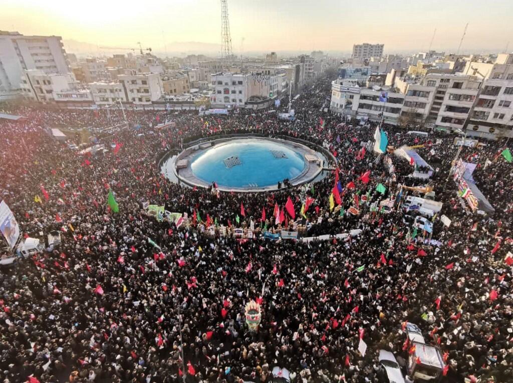 Homenaje a Qasem Soleimani en Teherán, el 6 de enero de 2020.