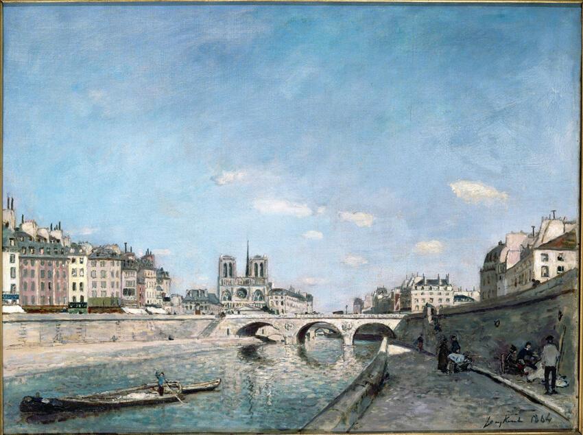 Johan Barthold Jongkind - La Seine et Notre-Dame de Paris -