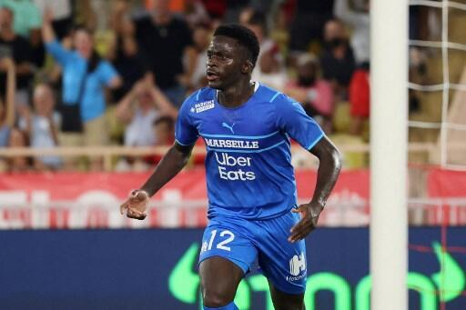 Bamba Dieng double buteur contre l'AS Monaco. le 11 septembre 2021.