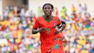 """José Luís Mendes Lopes """"Zezinho"""", capitão da selecção da Guiné-Bissau."""