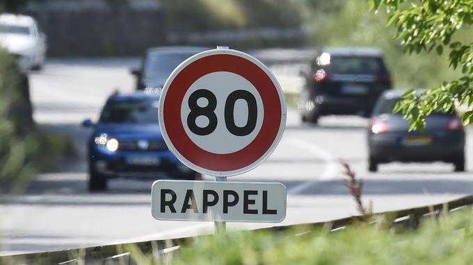 400 mil quilômetros de estradas vicinais da França terão limite de velocidade a 80 km/h.