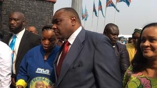 Jean-Pierre Bemba em Kinshasa a 1 de Agosto de 2018 após 11 anos de ausência