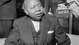 Léon Mba (1902-1967), le premier président de la République gabonaise.
