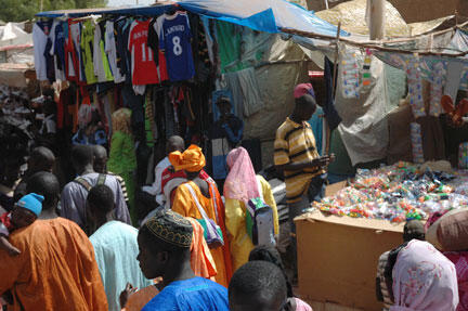 An open-air market in Senegal's town of Touba. The CFTA is set to create a common market worth $3T enabling 1.2 billion Africans to move freely.