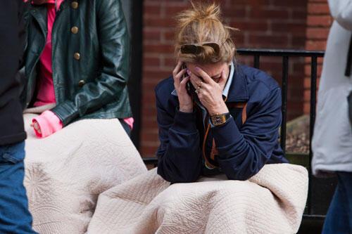 Uma vítima liga para sua família logo depois da explosão