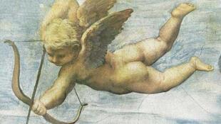 Detalle de 'El triunfo de Galatea',  fresco pintado por Rafael en 1513 para  la Villa Farnesina en Roma.