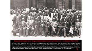 La photo mythique d'une grande partie des intellectuels rassemblés au Congrès des écrivains et artistes noirs de 1956, dans la Cour d'honneur de La Sorbonne.