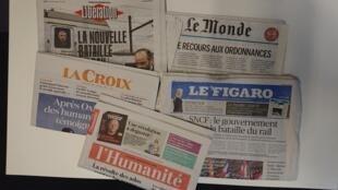 Primeiras páginas dos jornais franceses de 26 de fevereiro de 2018