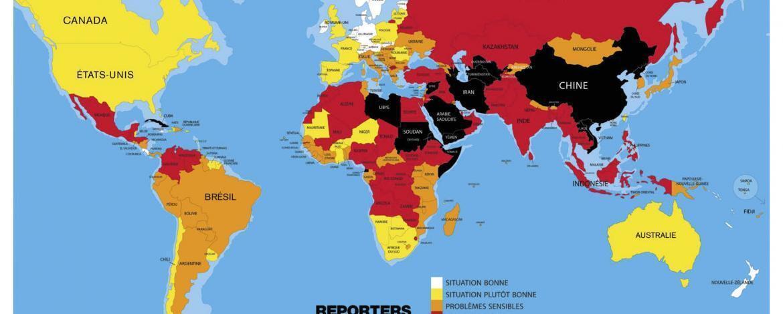O relatório da RSF para  2016 em imagens.