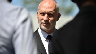 Simon Ticehurst, directeur d'Oxfam pour la région Amérique Latine-Caraïbes s'est excusé au nom de l'organisation. Port-au-Prince, le 19 février 2018.