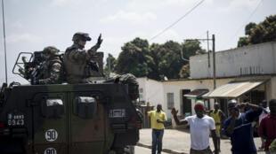 French troops arrive in Bouar western CAR in December 2013