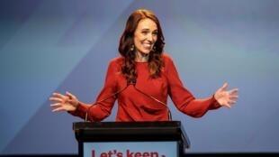 La Première ministre néo-zélandaise Jacinda Ardern le 17 octobre 2020, à Auckland.