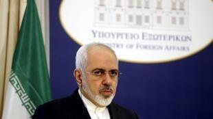 Le ministre iranien des Affaires étrangères Mohammad Javad Zarif à Athènes, le 28 mai 2015.